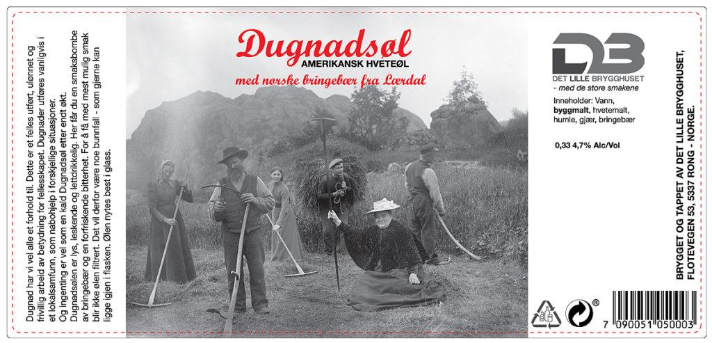 Dugnadsøl Amerikansk hveteøl med bringebær fra Lærdal
